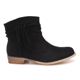 Suede Ankle Boots ZY9040 Black