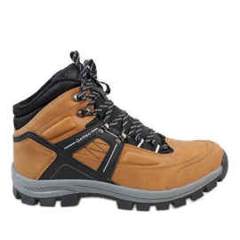 Brown Camel warmed snow boots T-1866