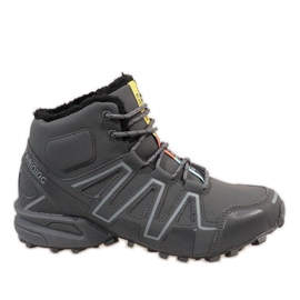 Grey Gray insulated snow boots BN8810