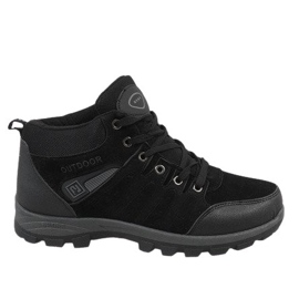 Black insulated snow boots KFT001