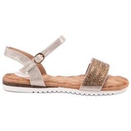 Emaks brown Sandals With Zircons