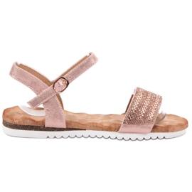 Emaks Sandals With Zircons pink