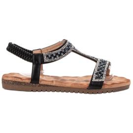 Emaks Decorated Women's Sandals black