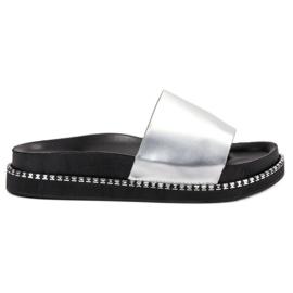 Bestelle grey Silver Women Slippers