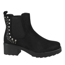 Kayla Shoes Black insulated high heels 88048