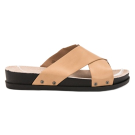Clowse brown Beige Slippers