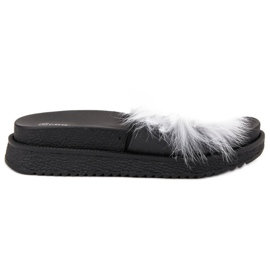 SHELOVET Slippers With Fur white