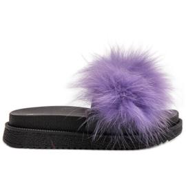 SHELOVET Slippers With Fur violet