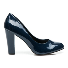 Sweet Shoes blue Lacquered Pumps On A Bar