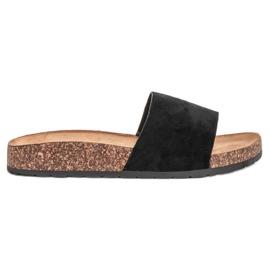 Bello Star Classic Black Slippers