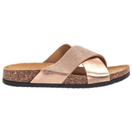 Bestelle pink Slippers With Cork Sole
