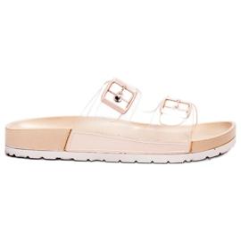 Ideal Shoes brown Transparent Flaps Se Buckle