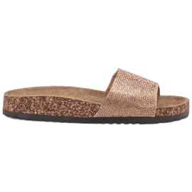 Bona yellow Slippers With Cork Sole