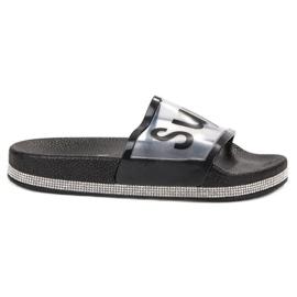 Bona black Transparent Flip Flops