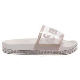 Bona grey Transparent Flip Flops
