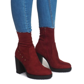 Suede Boots BG-59 Red