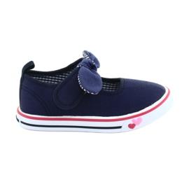 American Club navy Sneakers sneakers bow TEN42