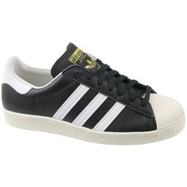 Black Adidas Superstar 80S M G61069 shoes