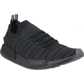 Black Adidas NMD_R1 Stlt Pk M CQ2391 shoes