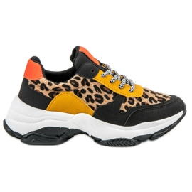 SHELOVET multicolored Colorful Leopard Print Sneakers