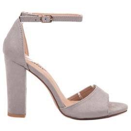 Seastar grey Suede Sandals On A Bar