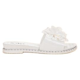 Kayla White Rubber Slippers