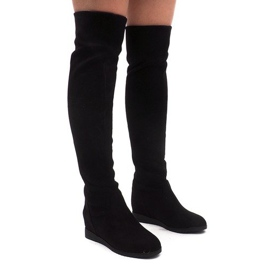 Insulated Knee High Boots 168-108 Black