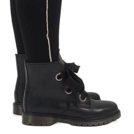 Kayla Shoes Black lace-up boots PF276