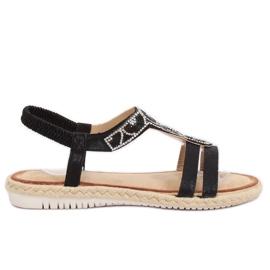 Sandals espadrilles black CO-78 Black
