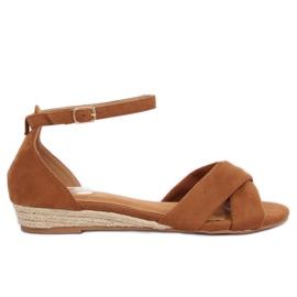 Sandals espadrilles brown 9R121 Camel