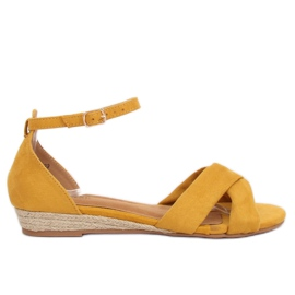 Sandals espadrilles yellow 9R121 Yellow