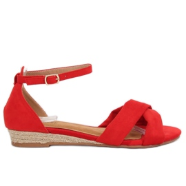 Sandals espadrilles red 9R121 Red