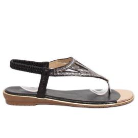 Black M03 Black flip-flops