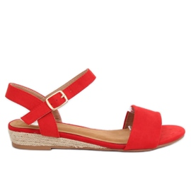 Sandals espadrilles red 9R73 Red