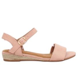 Sandals espadrilles pink 9R73 Pink