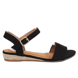 Sandals espadrilles black 9R73 Black