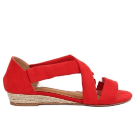 Sandals espadrilles red 9R72 Red