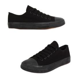 Classic women's sneakers black XL03 ALL-BLACK (black sole)