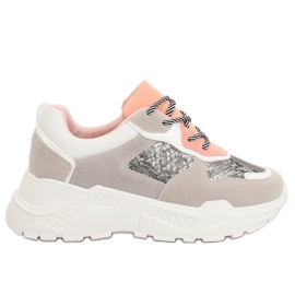 Grey LV88P Snake sports shoes gray