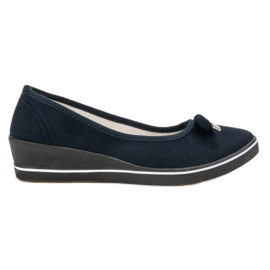 SHELOVET blue Pumps On Wedge
