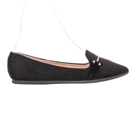 SHELOVET black Ballerina In Spitz