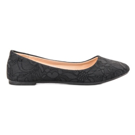 SHELOVET black Ballerina With Lace