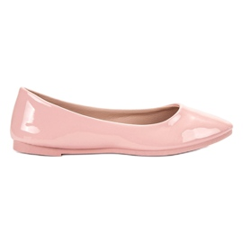 SHELOVET pink Lacquered Ballerina