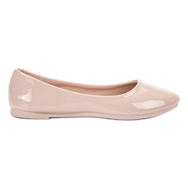 SHELOVET brown Lacquered Ballerina