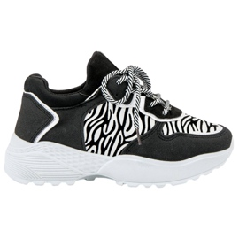 SHELOVET Fashionable Sneakers Zebra Print