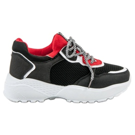 SHELOVET Fashionable Black Sneakers