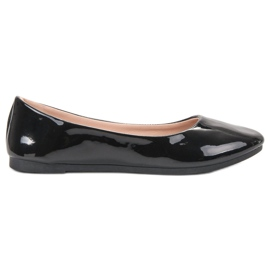 SHELOVET black Lacquered Ballerina