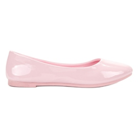 Lacquered VICES ballerinas pink