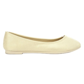 Light yellow Suede Ballerina VICES
