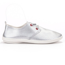 SHELOVET grey Silver sneakers